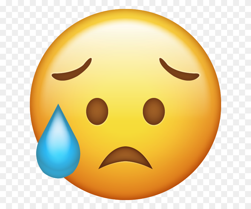 640x640 Emoji Emojis Upset Crying Cry Sad Sadness Freetoedit - Sad Emoji Clipart