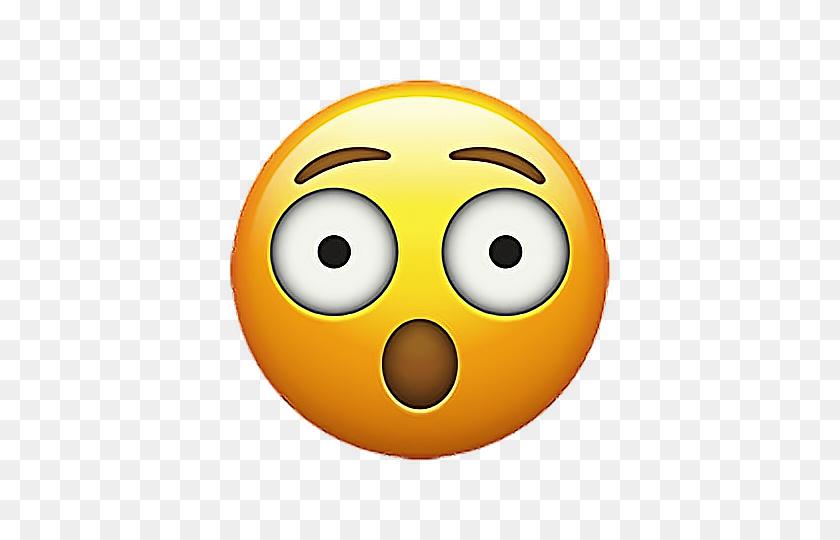 Emoji Emojisticker Sticker Stickers Shocked Smiley Eek - Shocked Emoji PNG