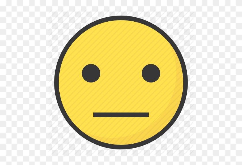 512x512 Emoji, Emoticon, Expression, Face, Meh Icon - Meh Emoji PNG