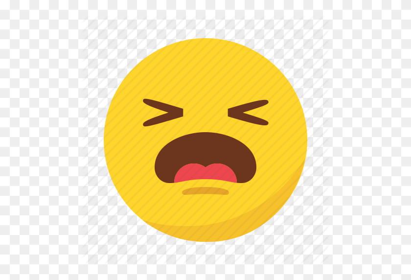 512x512 Emoji, Emoticon, Pain, Sad Icon - Sad Emoji PNG