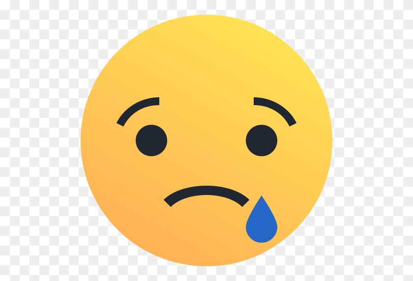 512x512 Emoji, Emoticon, Reaction, Sad, Tear Icon - Sad Emoji PNG