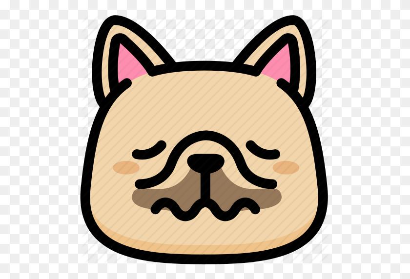 Emoji, Emotion, Expression, Face, Feeling, French Bulldog, Nervous - Bulldog PNG