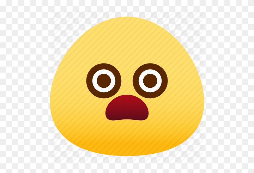 Emoji, Emotion, Expression, Face, Feeling, Shocked Icon - Shocked Emoji PNG