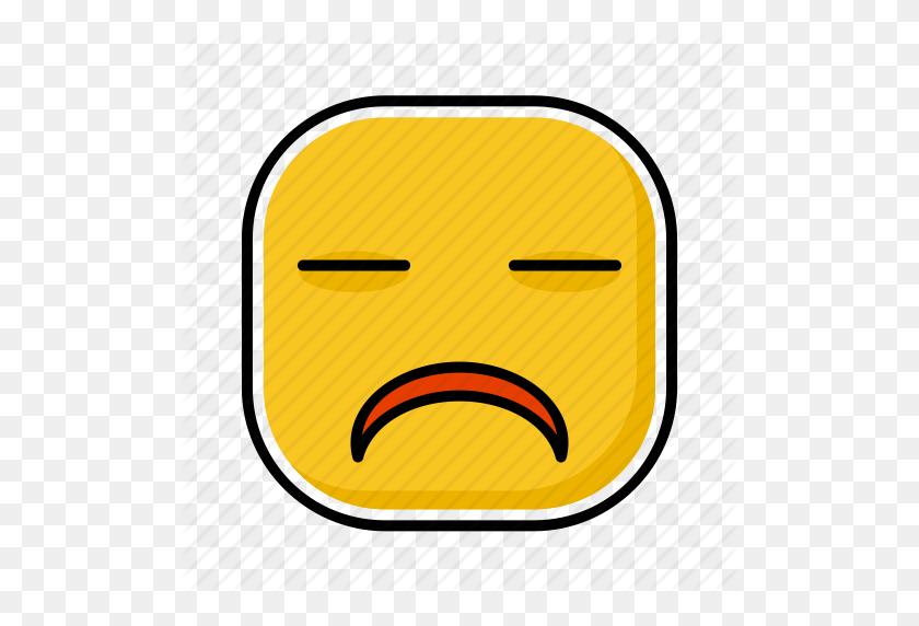 512x512 Emoji, Emotion, Expression, Face, Sad Icon - Sad Emoji PNG