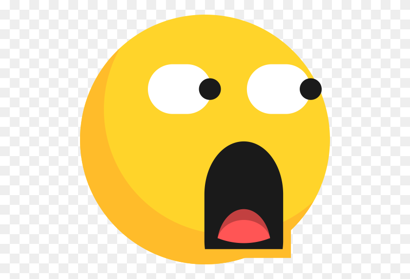 Emoji, Expression, Glared, Shocked, Surprised Icon - Shocked Emoji PNG