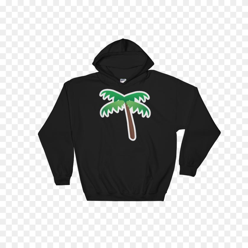 Emoji Hoodie - Palm Tree Emoji PNG
