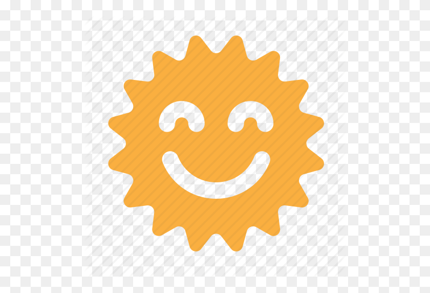 Emoticon, Face, Happy, Sun, Sunny Icon - Happy Sun PNG