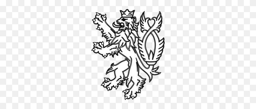 English Lion White Clip Art - English Book Clipart