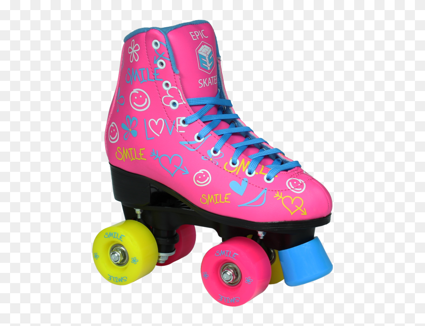 Epic Blush Quad Roller Skates - Roller Skates PNG