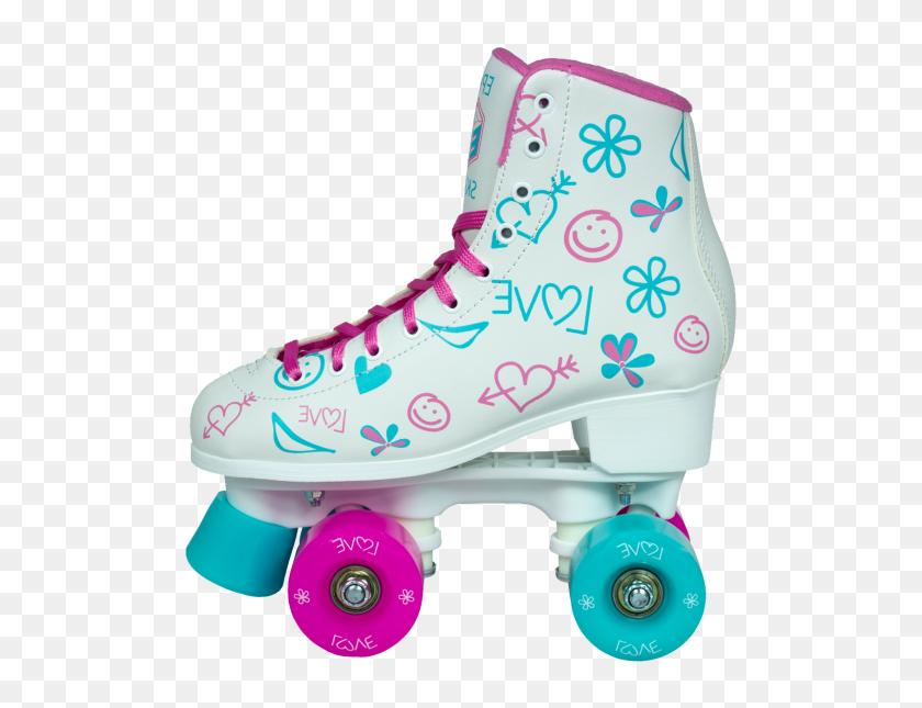 Epic Frost White Roller Skates - Roller Skate PNG