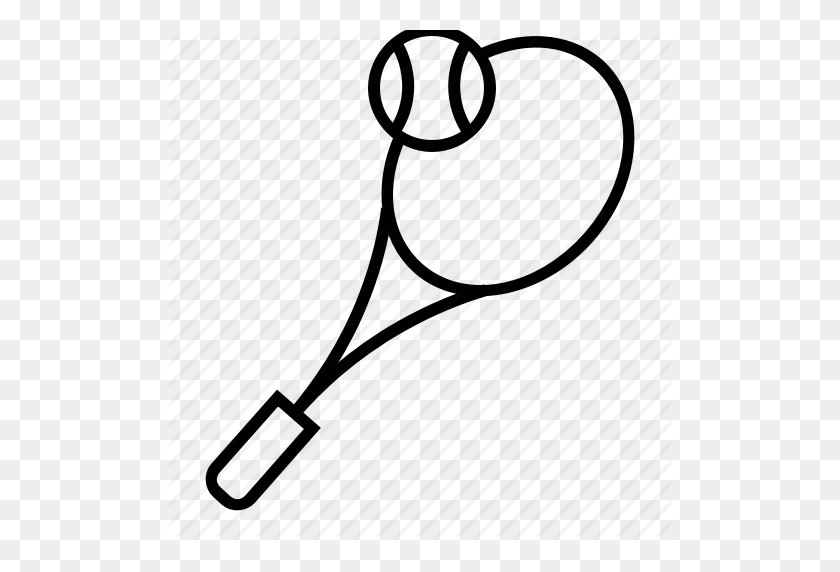 Equipment, Sport, Tennis, Tennis Ball, Tennis Racket, Tennis - Tennis Racket And Ball Clipart