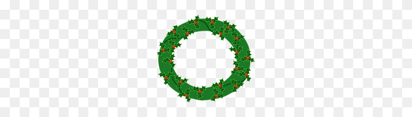 Evergreen Wreath With Large Holly Png, Clip Art For Web - Holly PNG