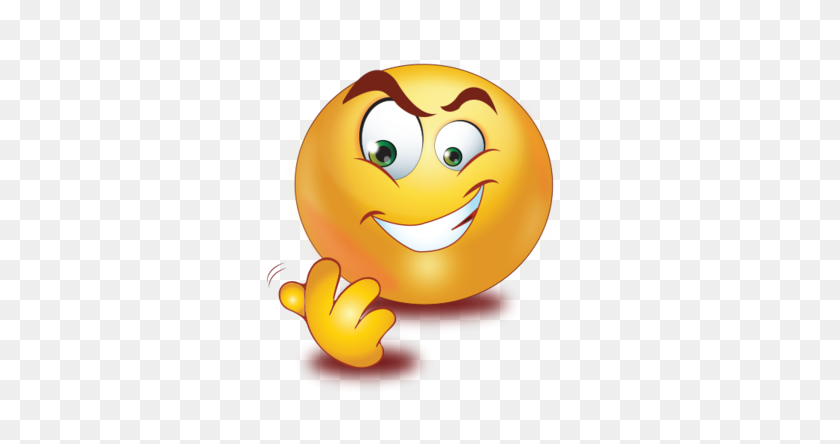 Evil Smile Come Hand Gesture Emoji - Evil Smile Clipart