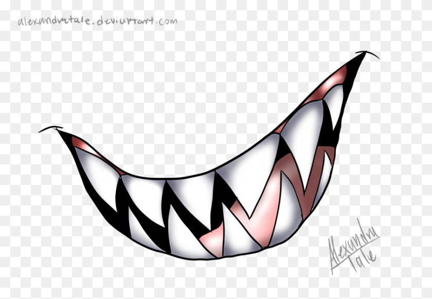 Image Smile Big Teeth - Evil Smile Png Clipart (#712266) - PinClipart