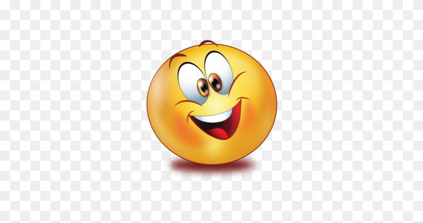 Excited Smile Emoji - Excited Emoji PNG