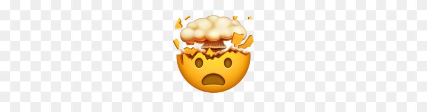 Exploding Head Emoji On Apple Ios - Shocked Emoji PNG