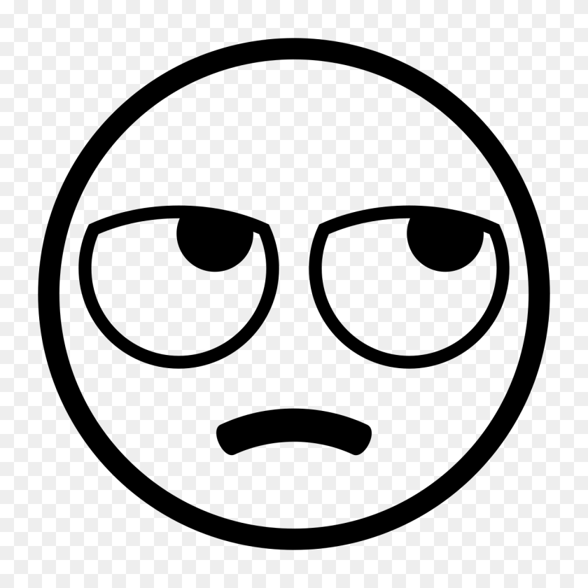 Eye Rolling Emoji Clipart Black And White - Eye Roll Emoji PNG