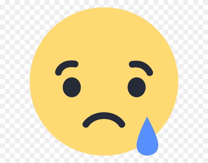 600x600 Facebook Sad - Sad Emoji Clipart