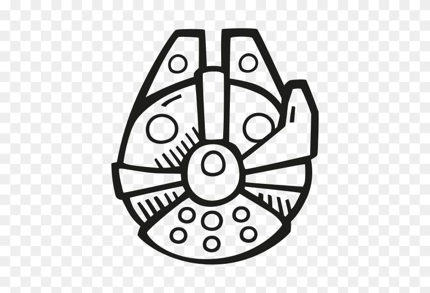 Falcon, Fan Art, Millennium, Scifi, Star Wars, Starwars Icon - Millenium Falcon PNG
