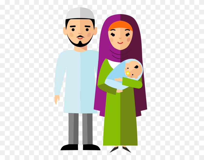 Family Arabs Clip Art - Family Portrait Clipart