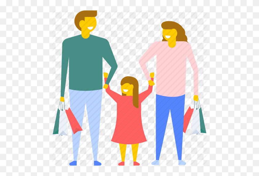 Family Enjoying Shopping, Family Shopping, Family With Shopping - People Shopping PNG