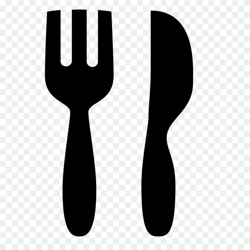 Fancy Fork Png Black And White Transparent Fancy Fork Black - Fork Knife Spoon Clipart