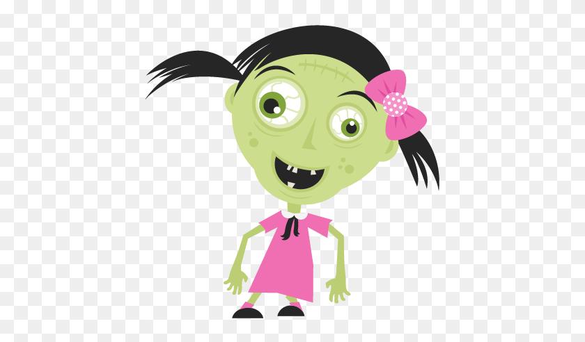 Fancy Zombie Clip Art Cute Halloween Zombie Clipart - Nice Girl Clipart