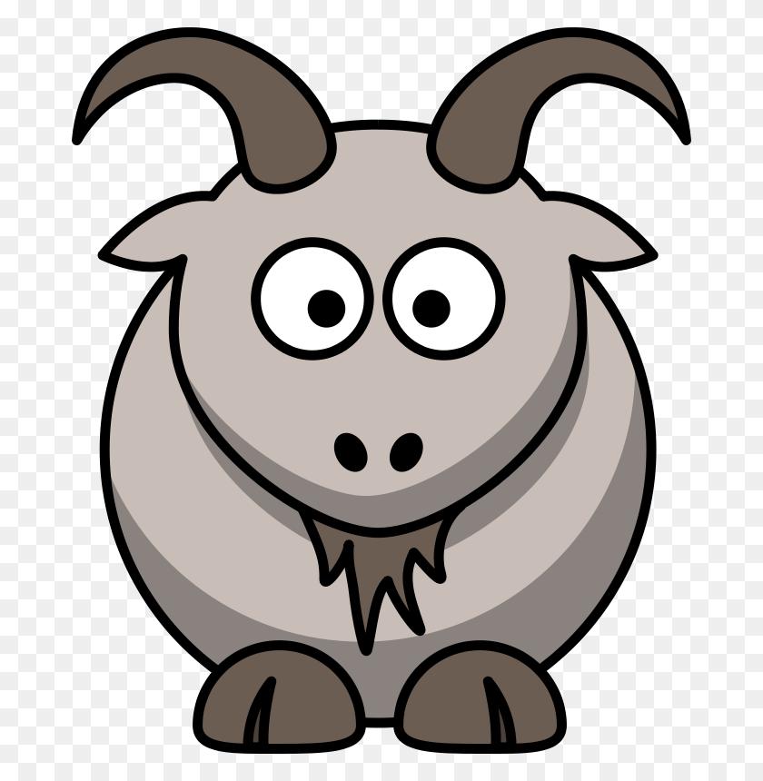 Farm Animals Clipart Brown Goat - Cute Farm Animals Clipart