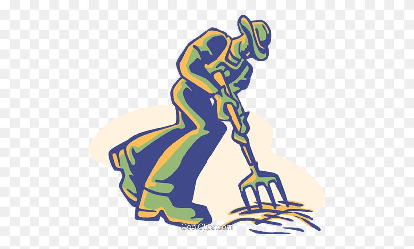 Farmer, Digging Royalty Free Vector Clip Art Illustration - Farmer Clipart Images