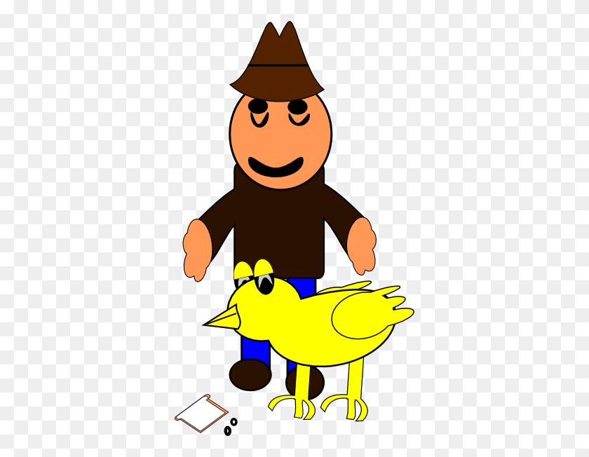 Farmer With Duck Clip Art - Farmer Clipart Images
