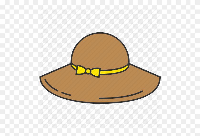 Fashion, Hat, Ribbon, Straw Hat, Woman Icon - Straw Hat Clipart