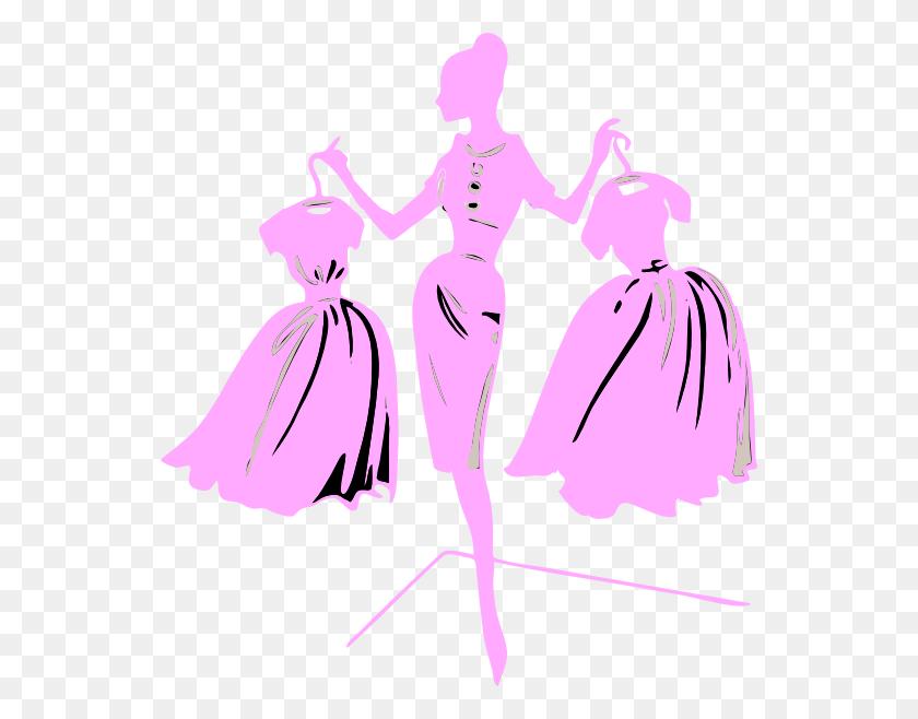 546x598 Fashion Show Model Clip Art - Free Fashion Clipart