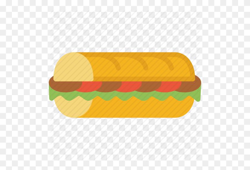 Fast, Fast Food, Food, Sandwich, Sub Icon - Sub PNG