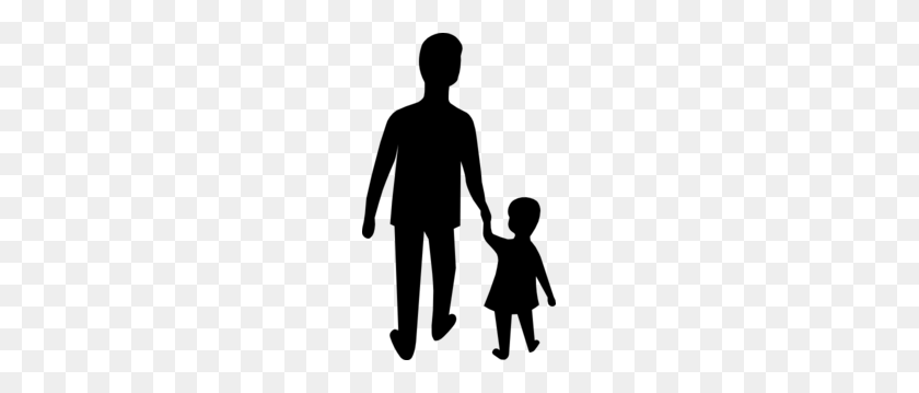 Father Holding Childs Hand Clip Art - Dad Clipart