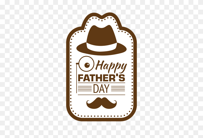 Fathers Day Happy Vintage Emblem - Fathers Day PNG