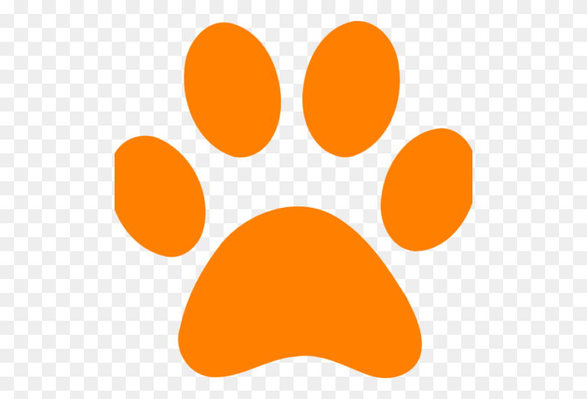 Favicon Dog Pawprint Orange Granola Barks - Dog Paw Print PNG