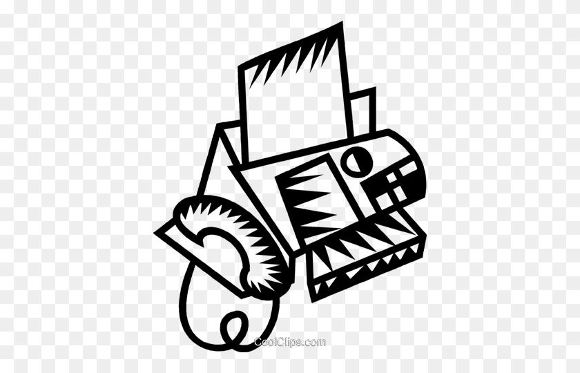 Fax Machine Royalty Free Vector Clip Art Illustration - Fax Machine Clipart