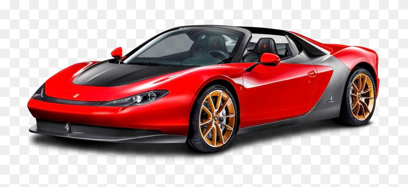 Ferrari Sergio Red Car Png Image - Red Car PNG
