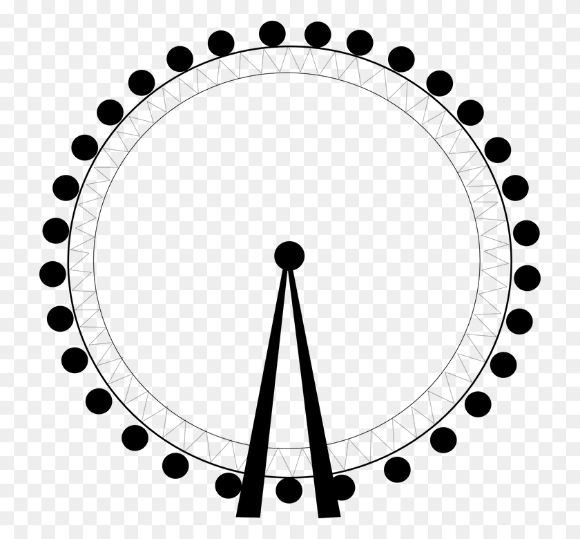 726x720 Ferris Wheel, Big Wheel, Abstract Off The Rails - London Eye Clipart
