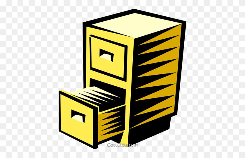 Filing Cabinet Royalty Free Vector Clip Art Illustration - Filing Cabinet Clipart