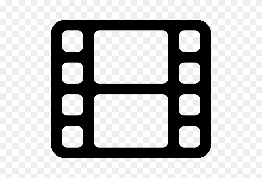 Film Strip With Two, Film Strip, Movie Icon With Png And Vector - Film Strip PNG