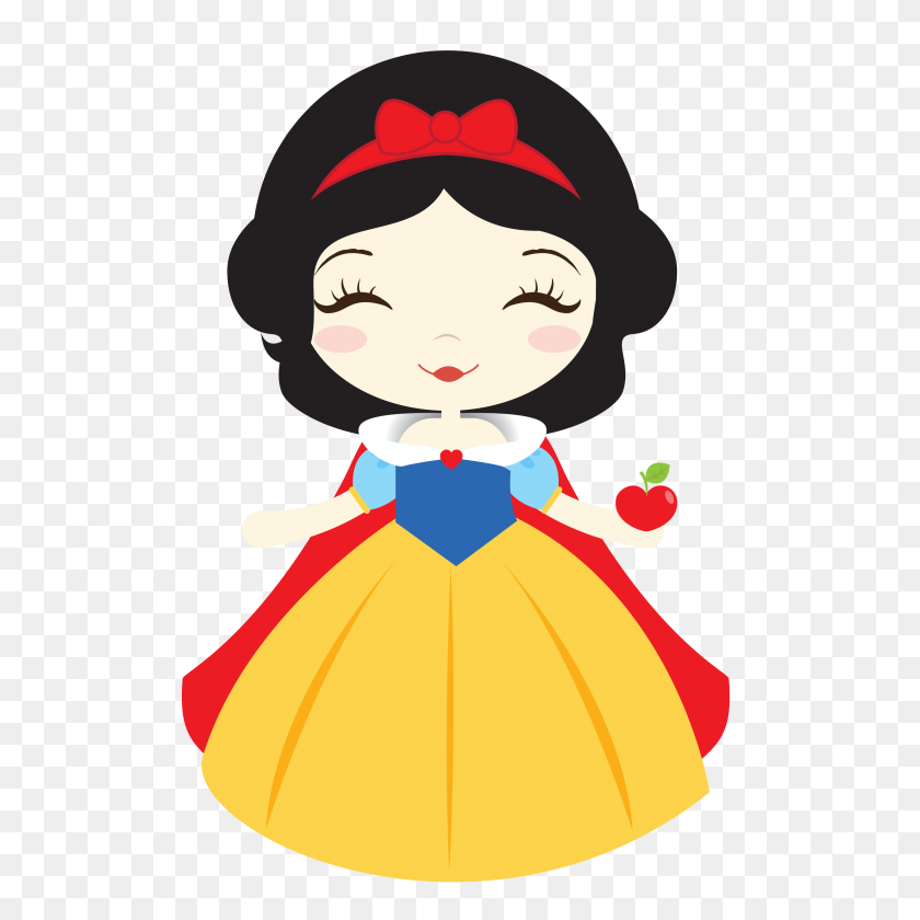 Filo Planning Snow White - Disney Princess Clipart