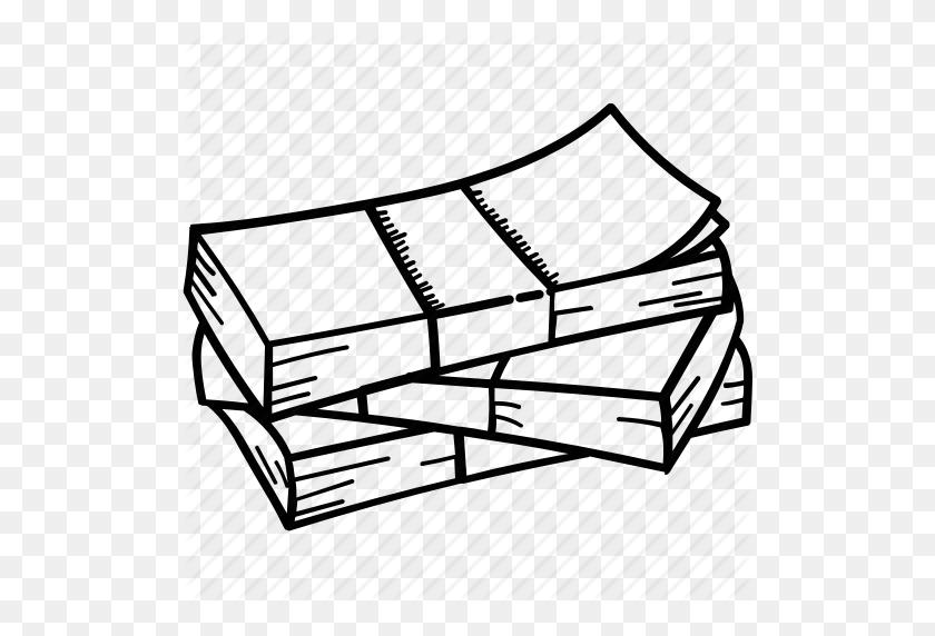 Finance, Money, Money Pile, Money Stack, Notes Bundle Icon - Pile Of Money PNG