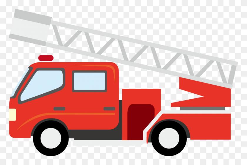 Fire Truck Clipart High Resolution - Construction Vehicles Clipart