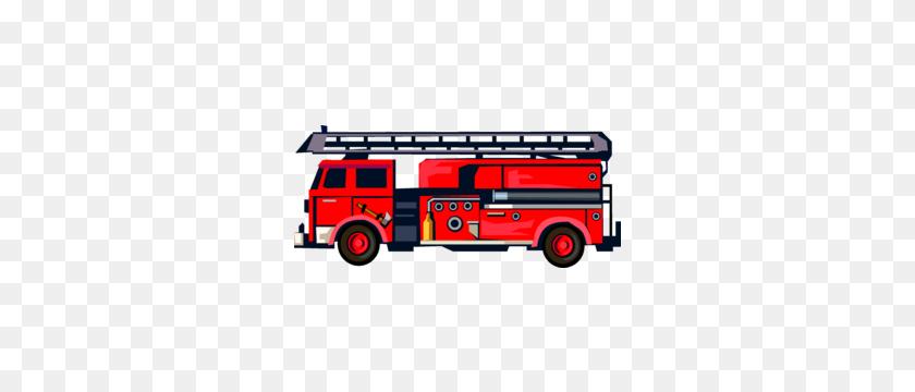 Fire Truck Clipart Side View - Fire Truck Clipart