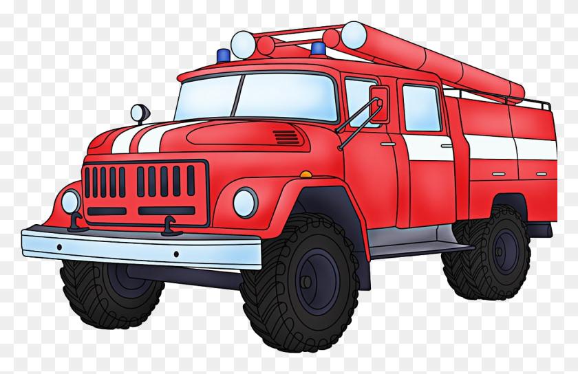 Fire Truck Clipart Transparent Background - Fire Truck Clipart