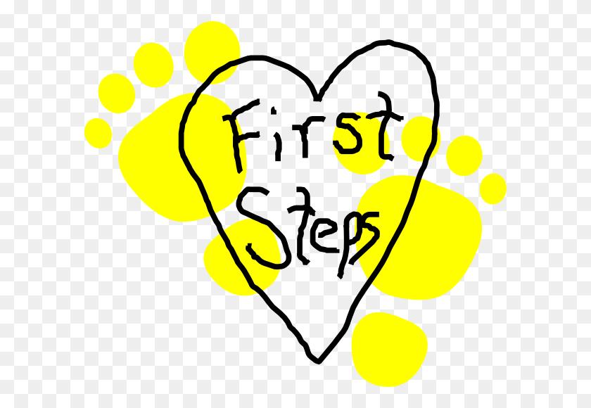 First Steps Heart Logo Clip Art - Steps Clipart