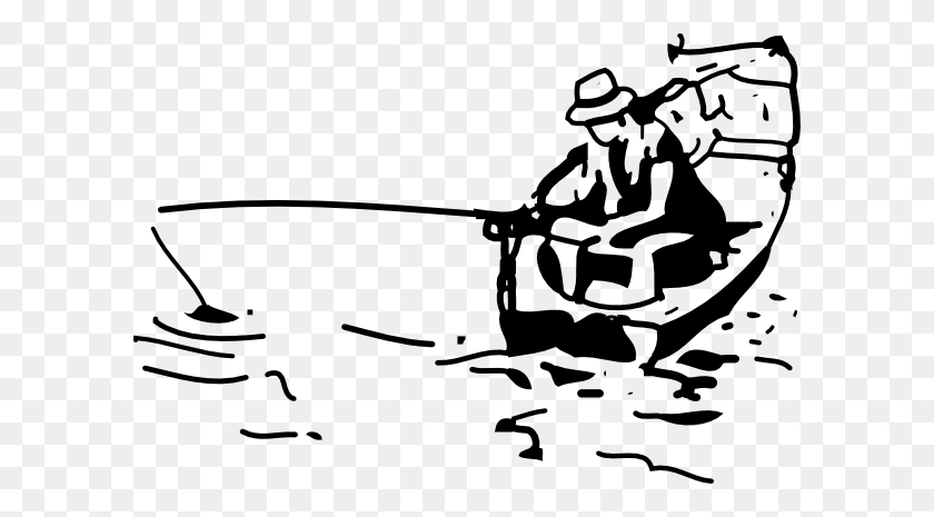 Fishing Boat Clip Art - Fishing Boat Clipart Black And White