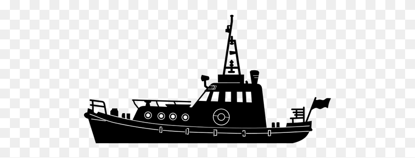 Fishing Boat Clipart Kapal - Fishing Boat Clipart Black And White