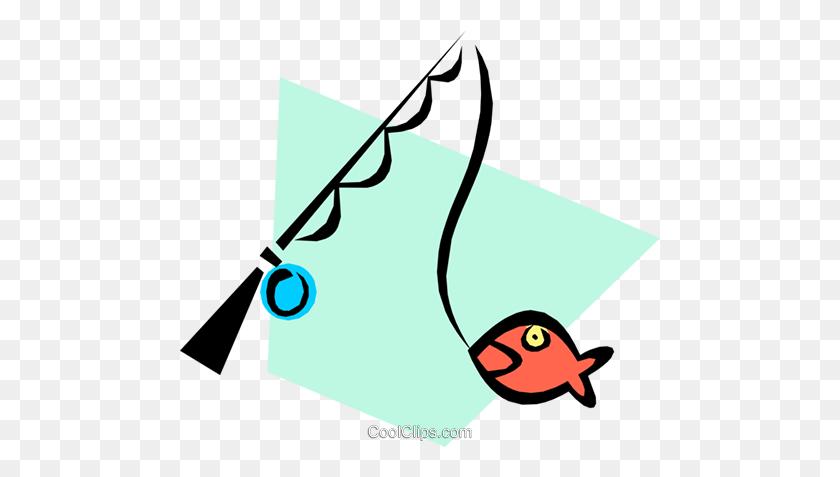 Fishing Poles Royalty Free Vector Clip Art Illustration - Fishing Pole Clipart Free